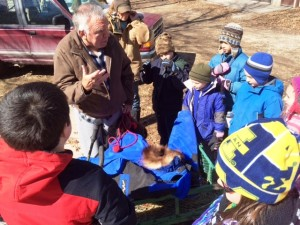 Mr. Banville actually raced in the Iditarod! He told us all about his experience.